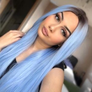 ✨BABY Blue LaceFront wig *NWT* ✨